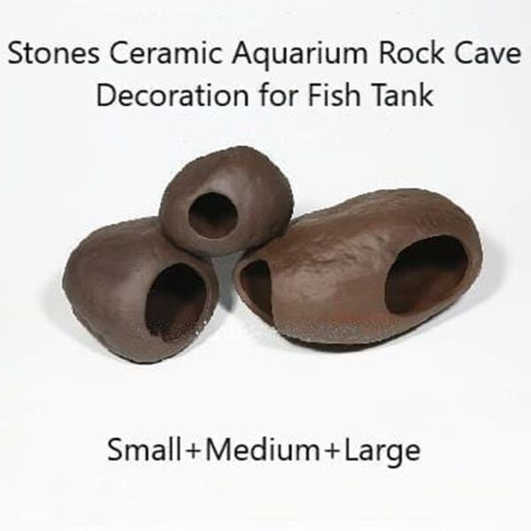 Stones Ceramic Aquarium Rock Cave Decoration Spawning Sites For Fish Shrimp Tank