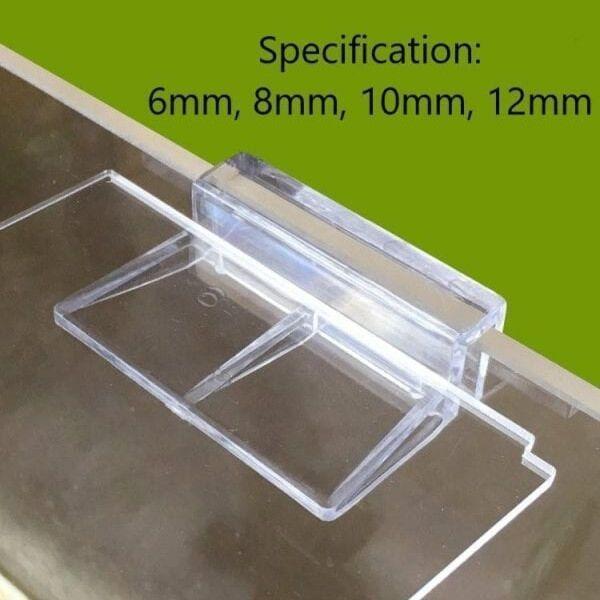 4 Pcs Plastic Aquarium Fish Tank Glass Cover Clips Support Holders
