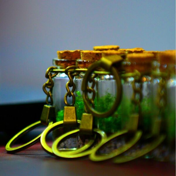 Moss Bottle Keychain