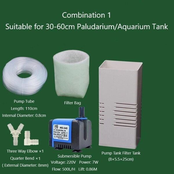 Pump Tank Filter Tank For Paludarium, Vivarium And Terrarium