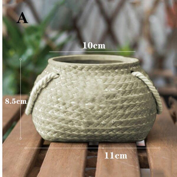 Weaving Flowerpot Natural Flower Baskets Hanging Flowerpot